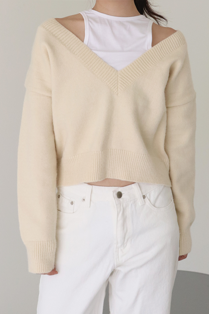 Layered knit(2colors)