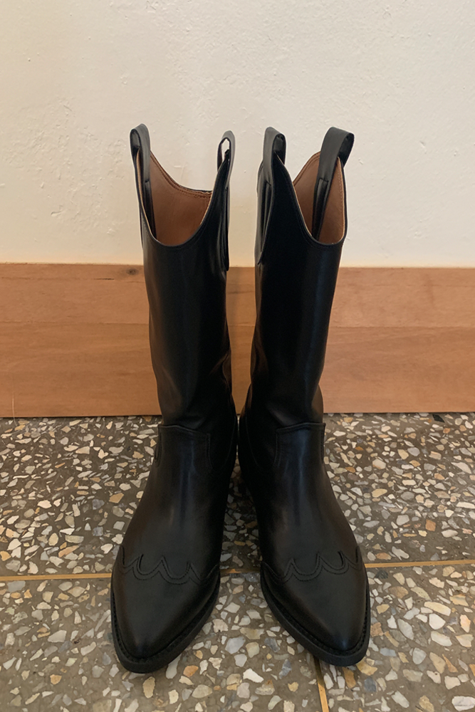 Long Western boots(2colors)