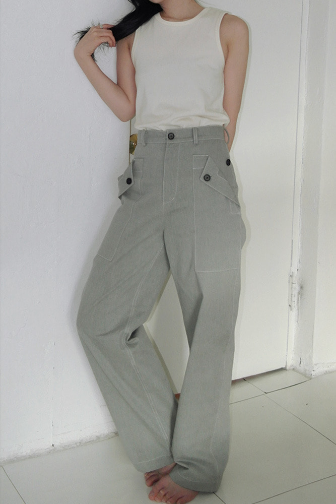 [DAD MADE] Out pocket button pants  *pre-order