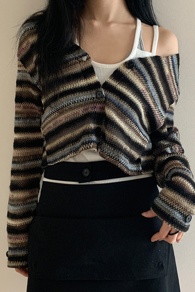 [DAD MADE] Vintage button cardigan * restocked