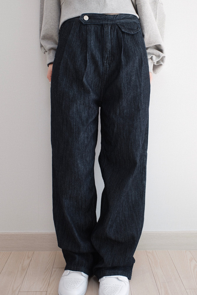 Pocket denim pants
