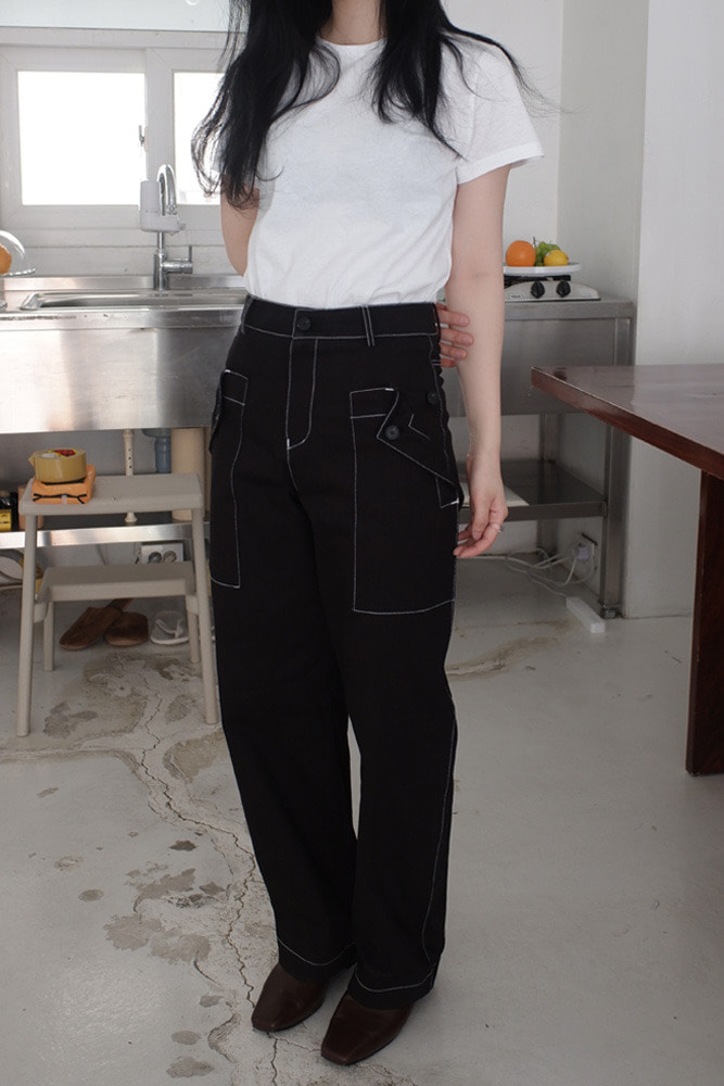 [DAD MADE] Out pocket button pants *ver.2