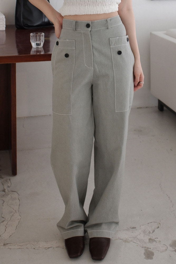 [DAD MADE] Out pocket button pants * restocked