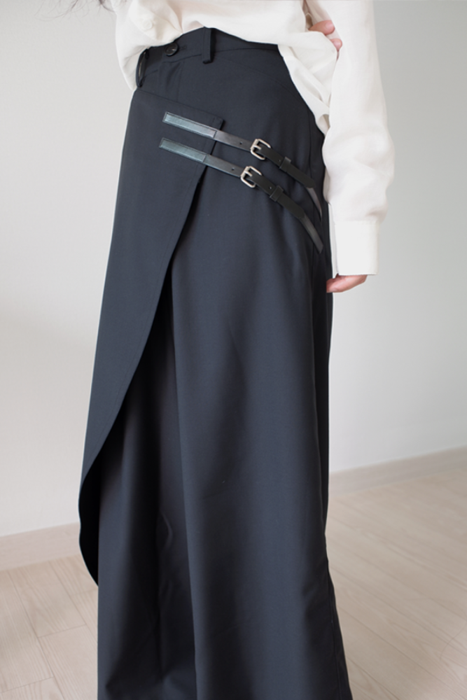 [DAD MADE] Belt culotte pants